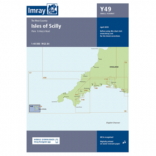 Imray Y49 Isles of Scilly (Small Format)